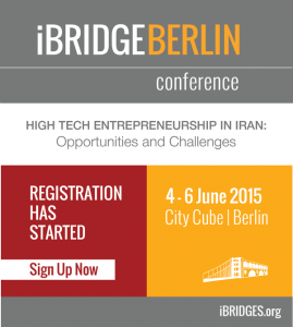 Two partners from Bayan Emrooz are participating in the conference of iBRIDGE with respect to High Tech Entrepreneurship in Iran: Opportunities and Challenges, 4-6 June 2015.